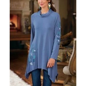 Soft Surroundings PXS Embroidered Amelia Tunic